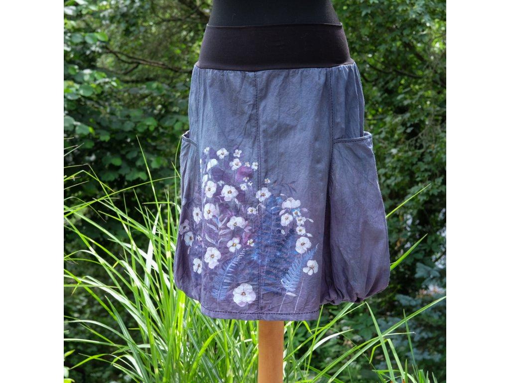 Sukně  s kapsami - barvená a malovaná - originál 40