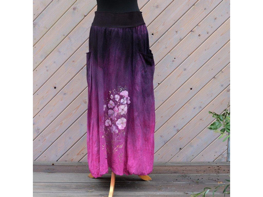 Sukně barvená a malovaná, dlouhá 42