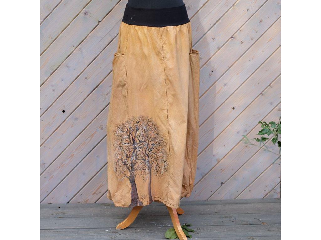 Sukně barvená a malovaná, dlouhá 50