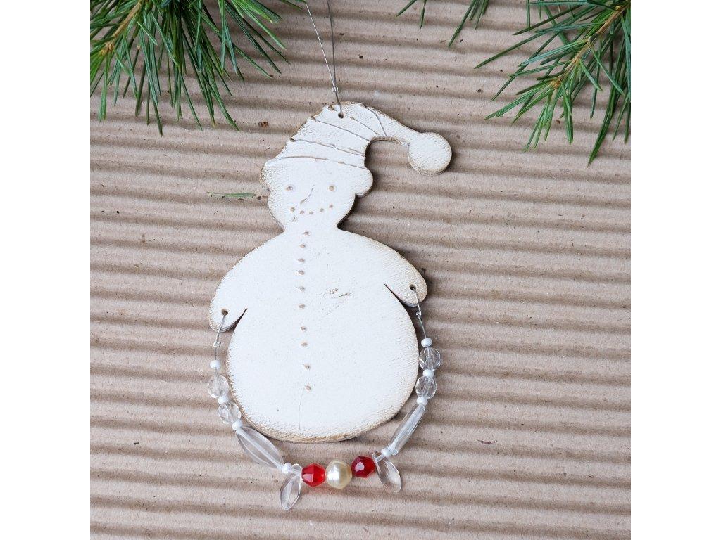 Vánoční ozdoba - Sněhulák