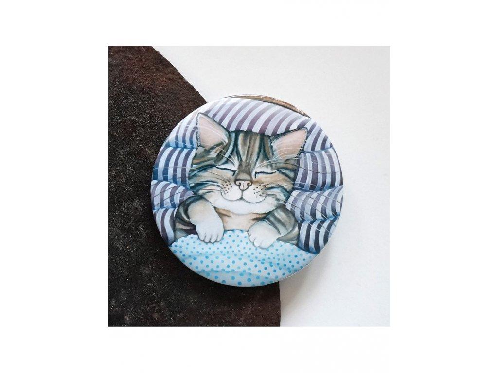 Spalo šťastné kotě - magnet