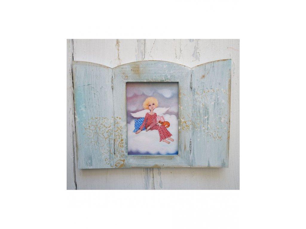 Otevírací obrázek - Andělíček sedící na obláčku
