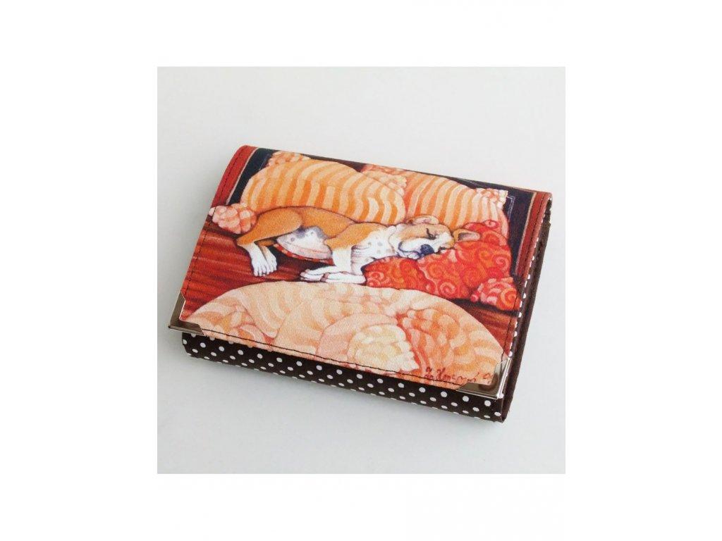 Pes v posteli - peněženka menší