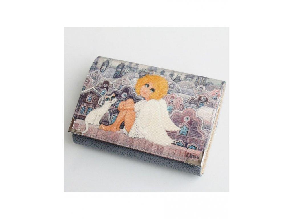 Andělka a kočička - peněženka menší