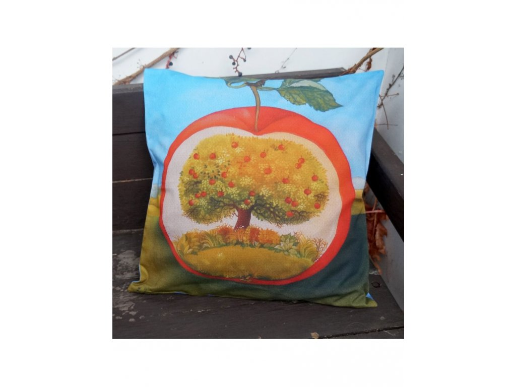 Jablíčko - polštář bavlna