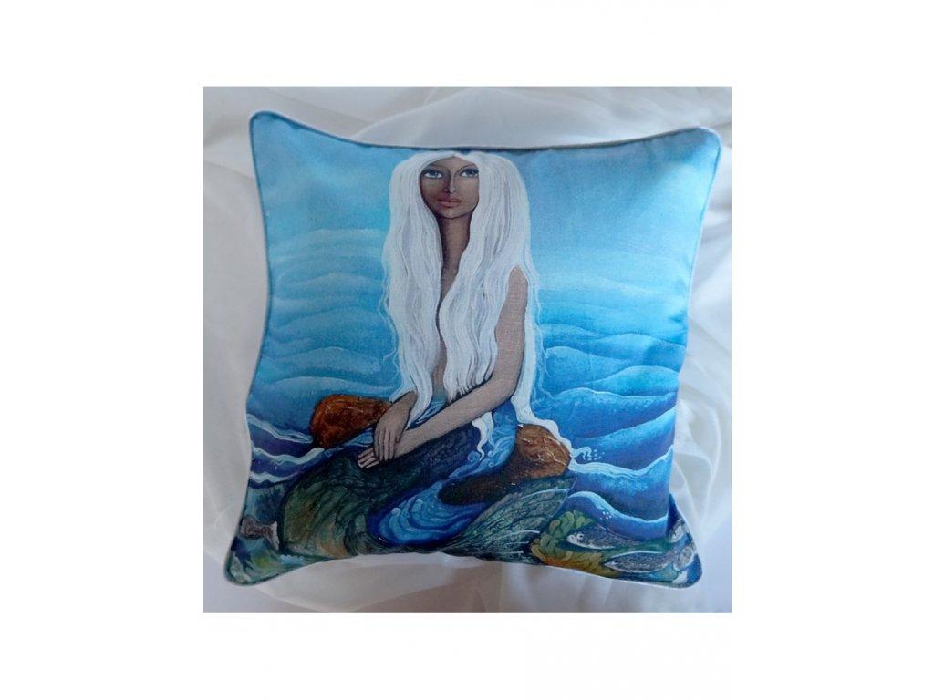 Malá mořská víla - polštář bavlna