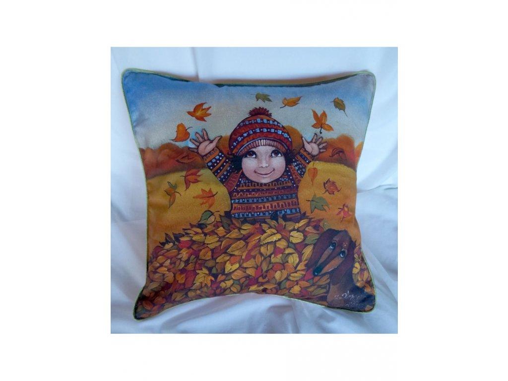 Podzim - polštář bavlna