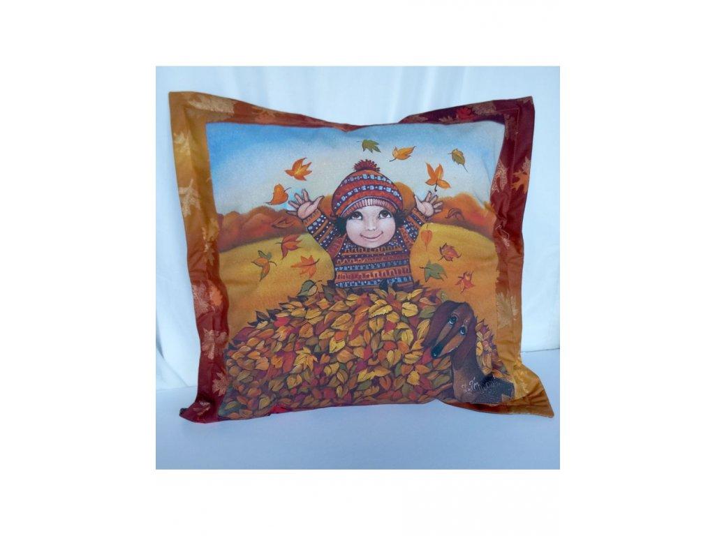 Podzim - polštář 50 x 50 cm bavlna