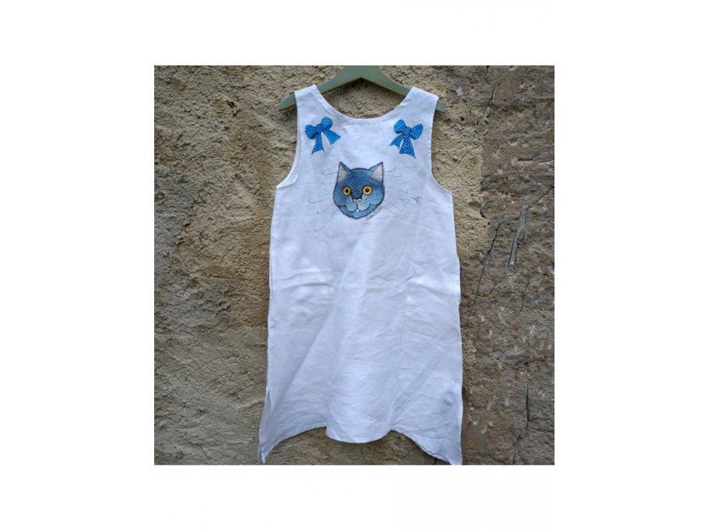 """Len - košilka od andělky (""""Kočka a mašličky"""" ) - velikost 128"""