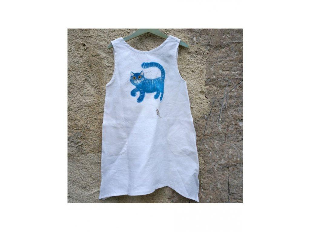 """Len - košilka od andělky (""""Kočka a myš) - velikost 116"""