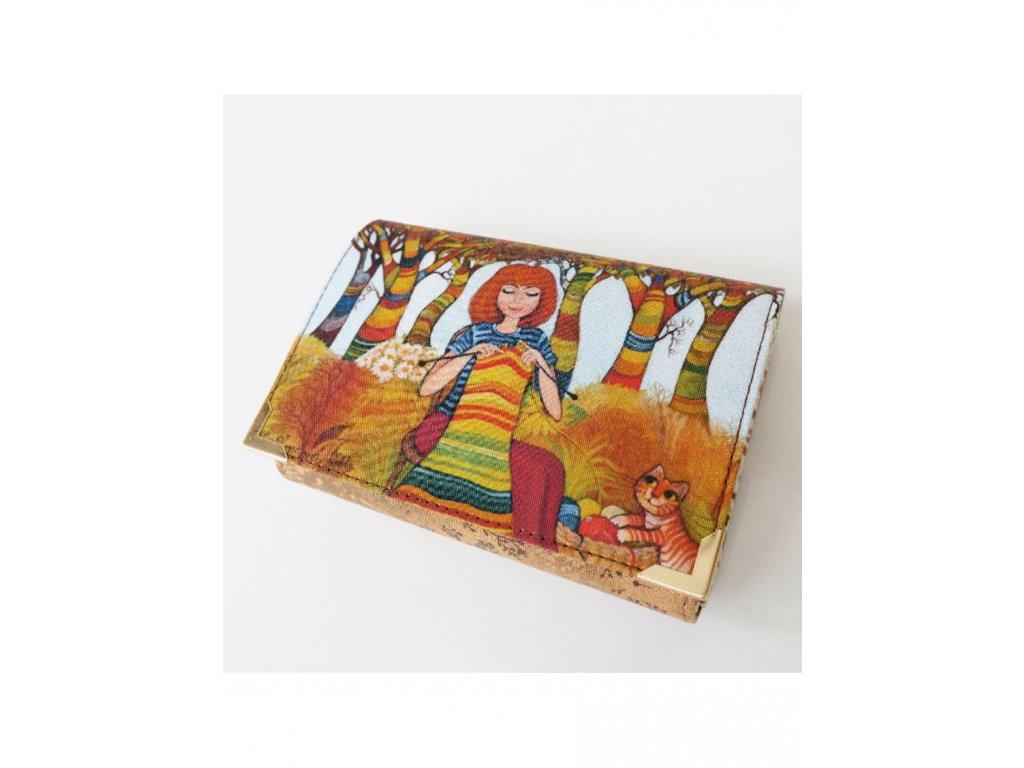 Náruživá pletařka - peněženka menší