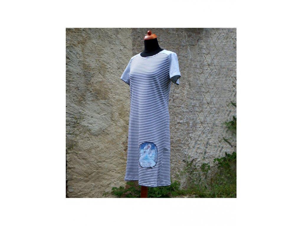 šaty -úplet - Ledová královna (40)