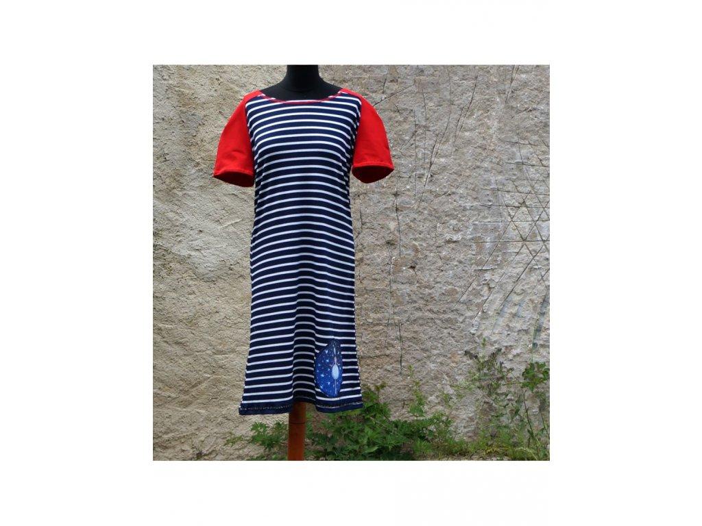 šaty -úplet - Vločka (42)
