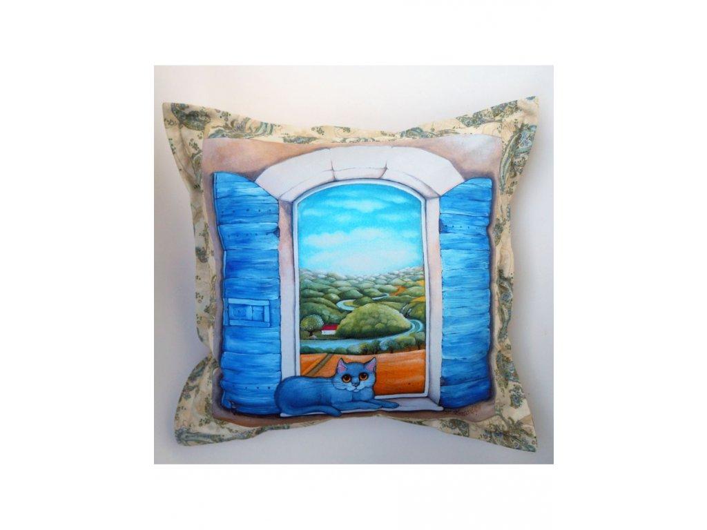 Krajina mých snů - polštář 50 x 50 cm bavlna
