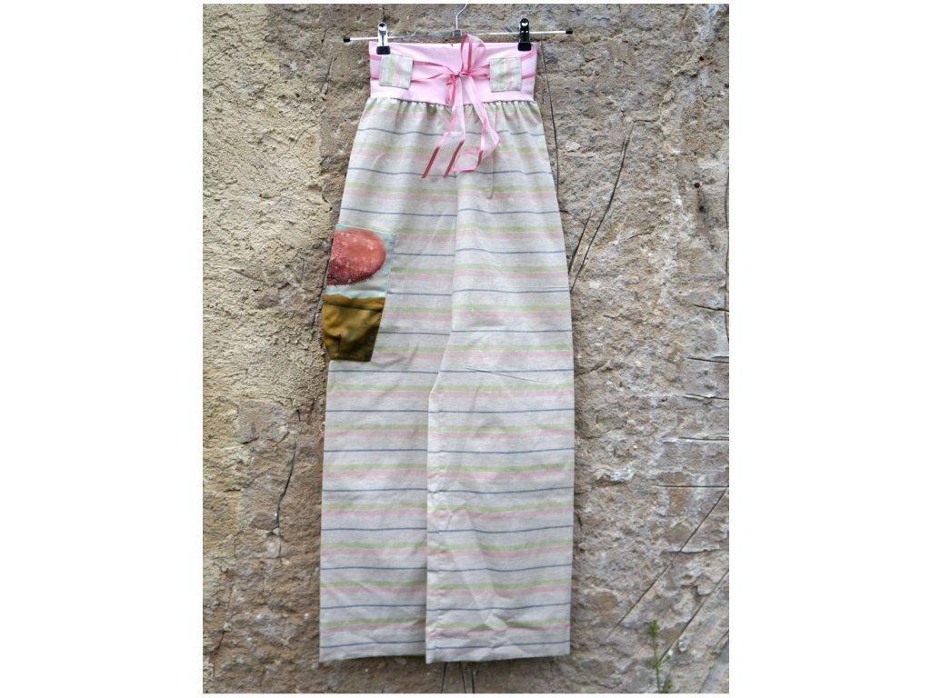 Pohodové kalhoty - Zamilované stromy (36) AKCE
