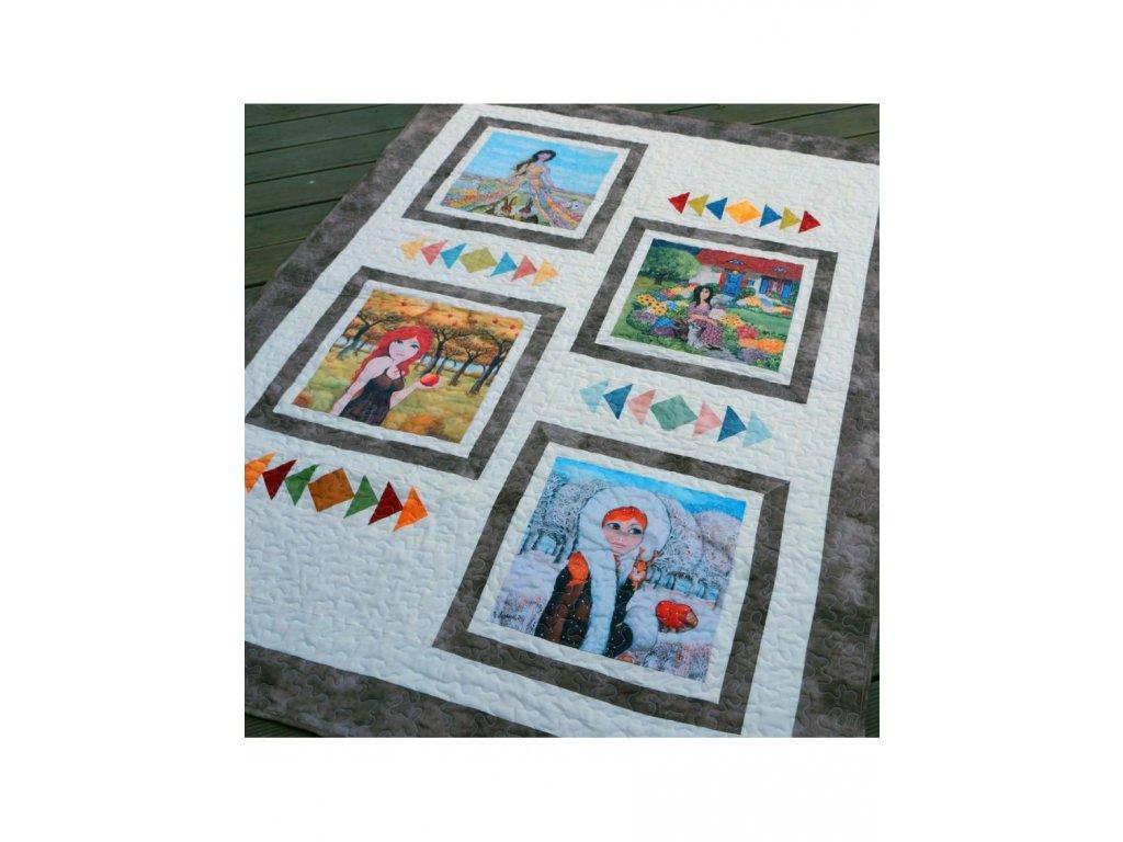 Patchworková deka - Jaro, léto, podzim, zima