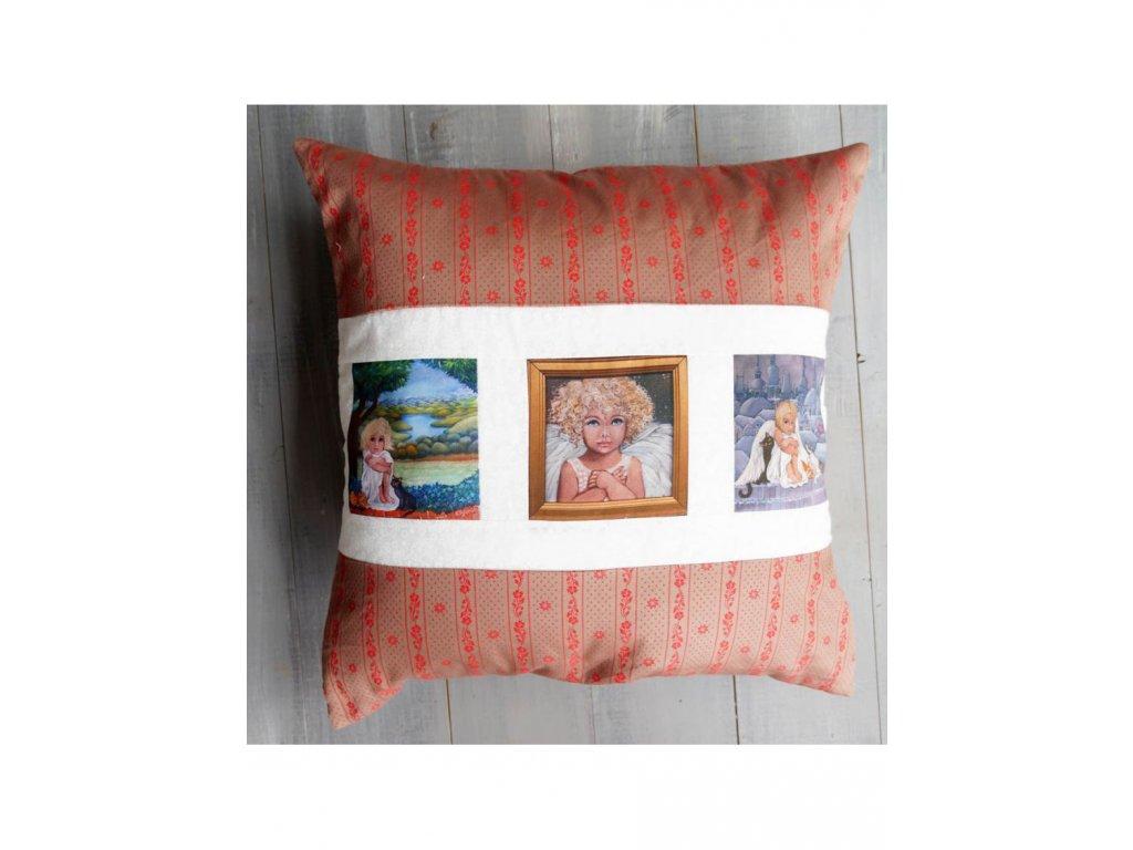 polštář s obrázky - 50 x 50 cm bavlna