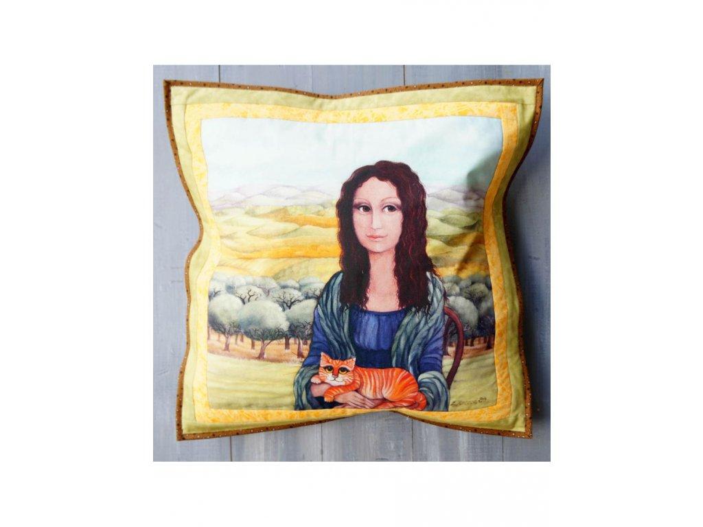 Patchwork  Monča a Líza - polštář 50 x 50 cm bavlna