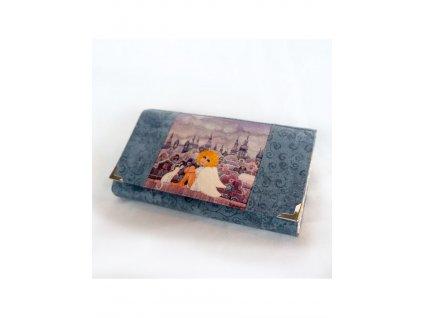 Andělka s kočičkou - peněženka 17 cm i na karty