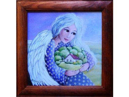 Andělka co chrání domov