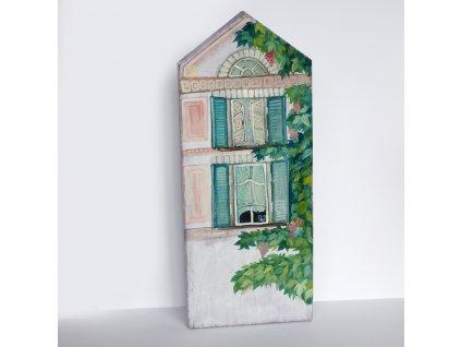 Domeček s modrými okenicemi2