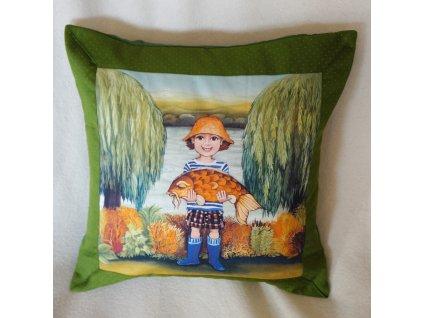 Malý rybář - polštář bavlna