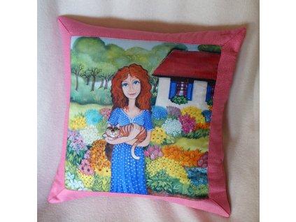Nejkrásnější zahrada - polštář bavlna