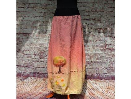 Sukně barvená a malovaná, dlouhá M