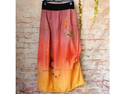 Sukně barvená a malovaná, dlouhá M- L