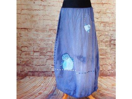 Sukně barvená a malovaná, dlouhá  - M-L-XL