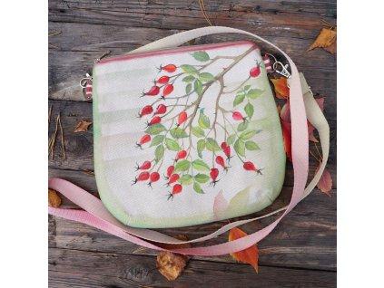 Malovaná kabelka originál šípková