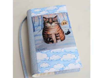 Kocour a kotě v zimě - obal na knížku