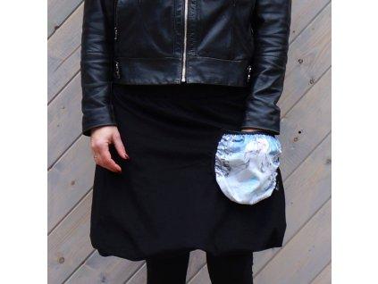 Manžestrová balonová sukně - (L)- Ledová královna