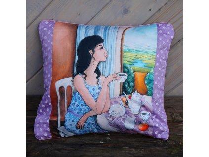 Vzpomínka na léto - polštář bavlna