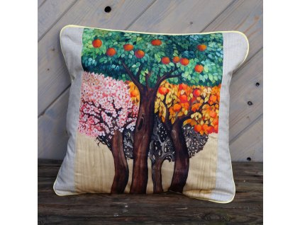 Stromy - polštář bavlna