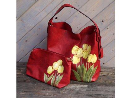 Originál větší kabela - s tulipány
