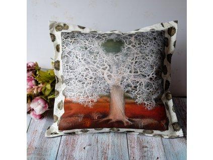 Krajkový strom - polštář 50 x 50 cm bavlna