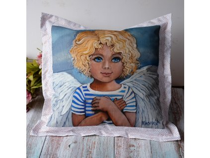 Andělíček - polštář 50 x 50 cm bavlna