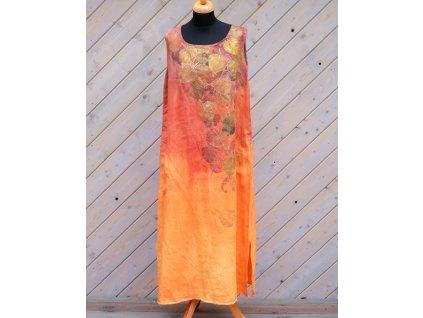 Šaty pro rozzářený den - Len 44 - na přání