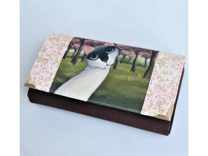 Modroočko - peněženka 17 cm i na karty