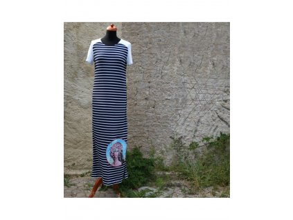 Dlouhé šaty -úplet -Naděje (38)