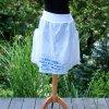 Sukně  s kapsami -  malovaná 100 % len - originál 44