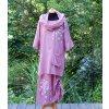 Lehoučké šaty s halenkou dlouhé originál malované - 42
