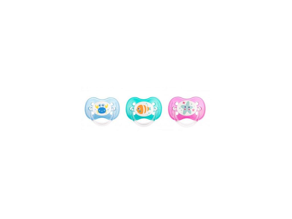 Canpol babies Dudlík kaučukový třešinka 6-18m LOVE&SEA