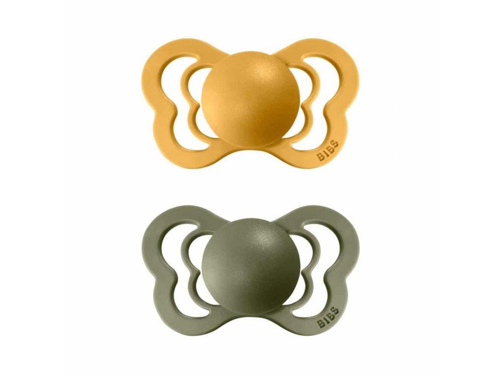 BIBS Couture ortodontické dudlíky z přírodního kaučuku 2ks - velikost 2