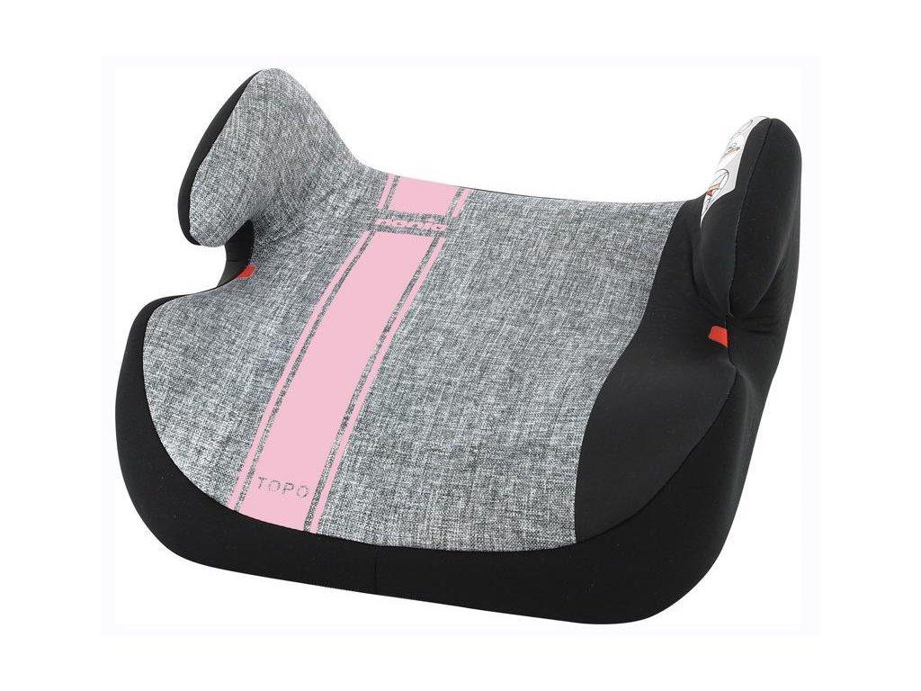 NANIA Topo Comfort First Line autosedačka (15-36 kg) Pink
