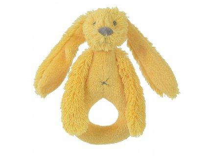Happy Horse   Chrastítko králíček Richie žluté Velikost: 18 cm