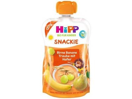 HiPP HiPPiS BIO Sport Hruška-Banán-Bílé hrozno-Oves 120 g – ovocný příkrm