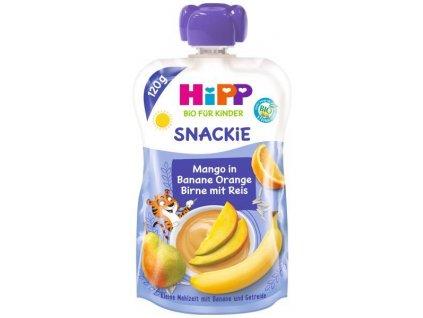 HiPP HiPPiS BIO Sport Hruška-Pomeranč-Mango-Banán-Rýže 120 g – ovocný příkrm