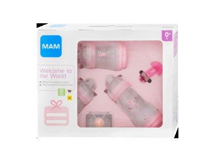 MAM Novorozenecký dárkový set malý růžový